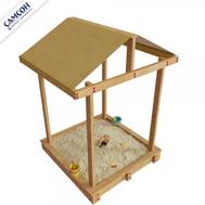 Детская песочница САМСОН ДЮНА с крышей масло сосна-венге, фото 1