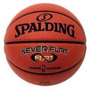 Мяч баскетбольный - SPALDING NBA GOLD NEVER FLAT 7, фото 1