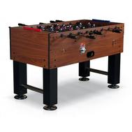 Футбольный игровой стол для бизнеса - Monako 140x73x91 см, коричневый, жетоноприемник, фото 1