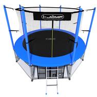 Пружинный батут для дачи на металлокаркасе - I-JUMP 16ft BLUE, лестница, защитная сетка, фото 1