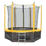 Складной пружинный батут на металлокаркасе - OPTIFIT SUN LIKE 12ft, лестница, защитная сетка в комплекте, фото 1