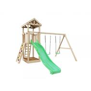 Детский деревянный игровой комплекс - IGRAGRAD DIY ПАНДА ФАНИ + СКАЛОДРОМ, фото 1