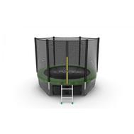 Батут EVO JUMP EXTERNAL 8 FT GREEN + LOWER NET, фото 1
