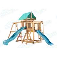 Игровая площадка BABYGARDEN с балконом, рукоходом и двумя горками, фото 1