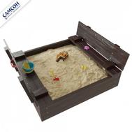 Детская песочница с крышкой САМСОН АРЕНА, лак, цвет венге, фото 1