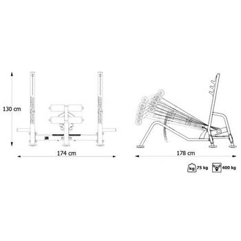 Скамья для жима (с отрицательным наклоном) - Marbo Sport MP-L208, фото 9