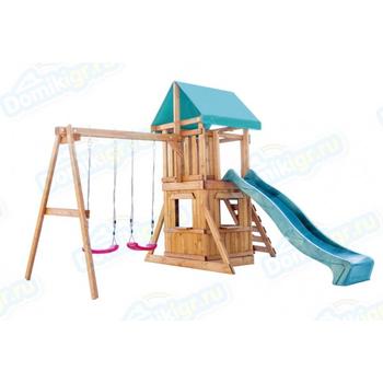 Игровая площадка BABYGARDEN с закрытым домиком, скалолазкой и горкой 2.4 м, фото 2