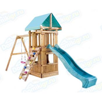 Игровая площадка BABYGARDEN с закрытым домиком, скалолазкой и горкой 2.4 м, фото 3