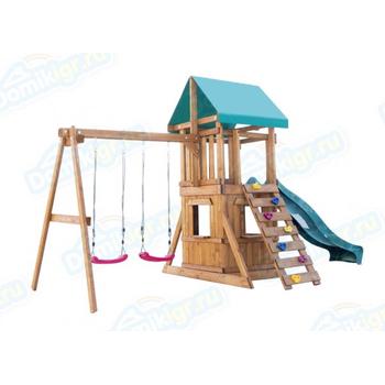Игровая площадка BABYGARDEN с закрытым домиком, скалолазкой и горкой 2.4 м, фото 4