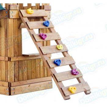 Игровая площадка BABYGARDEN с закрытым домиком, скалолазкой и горкой 2.4 м, фото 5