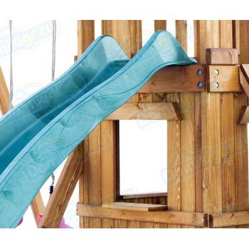 Игровая площадка BABYGARDEN с закрытым домиком, скалолазкой и горкой 2.4 м, фото 6