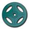 Олимпийский обрезиненный диск Alex, 4 отверстия, 10 кг зеленый, фото 1